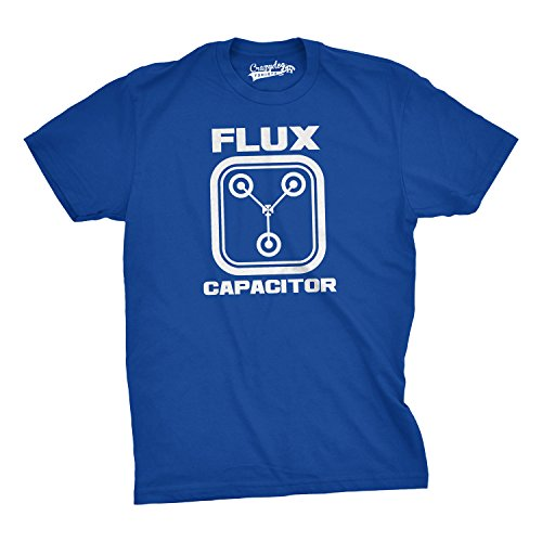 - Flux Capacitor T Shirt Funny Vintage Retro 80s Movie T Shirts for Men (Blue) - L