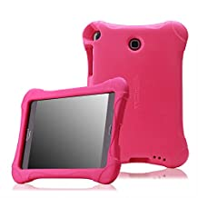 MoKo Samsung Galaxy Tab A 8.0 Case - Kids Friendly Ultra Light Weight Shock Proof Super Protective Cover Case for Samsung Galaxy Tab A 8.0 inch Tablet SM-T350, MAGENTA (With S-pen Opening)