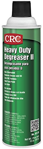 (CRC Heavy Duty Degreaser II, 15 oz Aerosol Can, Clear/White)