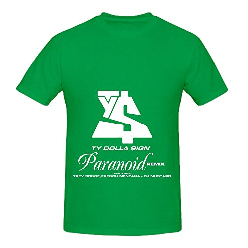 Ty Dolla $ign Paranoid Mens O Neck Digital Printed Shirts Green