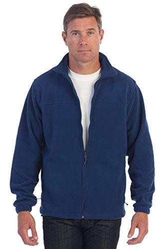 Gioberti Mens Full Zip Polar Fleece Jacket, Navy, X-Large