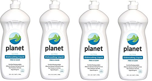 Planet Ultra Dishwashing Liquid, 25 Fluid Ounce Bottles (Pack of 12) (4-(Pack of 12)) by Planet
