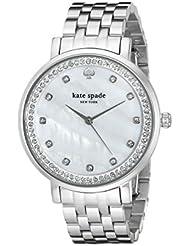 kate spade new york Womens 1YRU0820 Monterey Analog Display Japanese Quartz Silver-Tone Watch