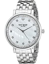 Women's 1YRU0820 Monterey Analog Display Japanese Quartz Silver-Tone Watch