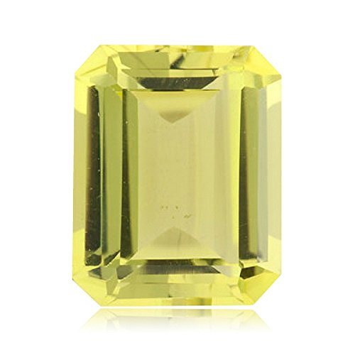 3.00 Cts of 10x8 mm AA Emerald-Cut Lemon Citrine (1 pc) Loose Gemstone ()