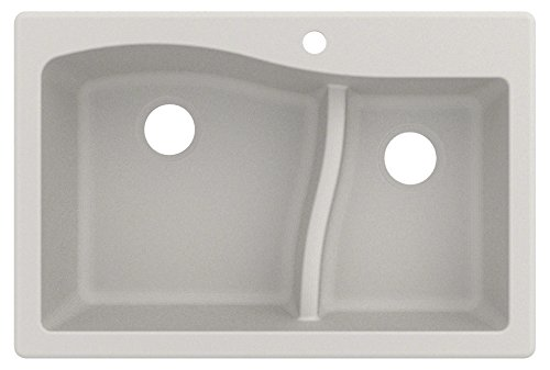 Kraus KGD-442WHITE Quarza Granite Kitchen Sink, 33-inch, White
