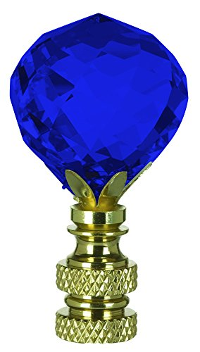 Multi-Faceted Swarovski Crystal Ball Finial Lamp Shade - Full color Cobalt Blue - Additional Vibrant Colors Available by TableTop King