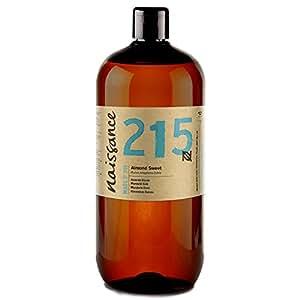 Naissance Aceite de Almendras Dulces n. º 215 - 1 Litro - 100% puro para humectar y equilibrar la piel, hidratar el cabello y todo el cuerpo.