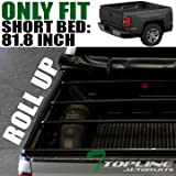 "Topline Autopart Roll-Up Soft Tonneau Cover 99-14 15 Ford F250 F350 F450 Superduty 6.5 Ft 78"" Bed"