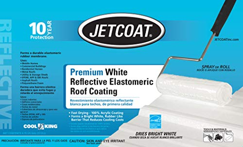 Jetcoat Cool King Elastomeric Acrylic Reflective Roof Coating, White, 5 Gallon, 10 Year Protection by Jetcoat (Image #3)