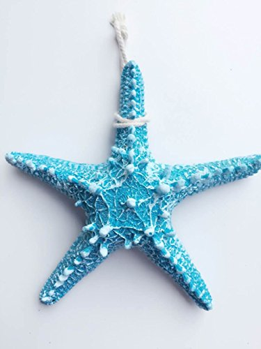 Yunko 2 Pcs Mediterranean Style Design Blue Beach Starfish Christmas Decor  Size Large For Festival Decor Wedding Decor Home Decor And Craft Project