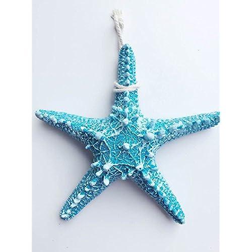 Yunko 2 Pcs Mediterranean Style Design Blue Beach Starfish Christmas Decor  Size Large For Festival Decor Wedding Decor Home Decor And Craft Project