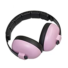 Baby Banz Baby-Girls Newborn Hearing Protection Earmuff, Pink, 3 months+ By Baby Banz, 1-Pack