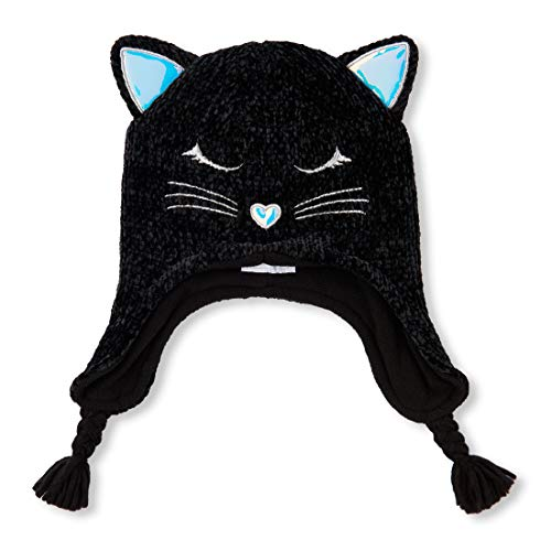 - The Children's Place Big Girls' Critter HAT, Black, L/XL(8+YR)