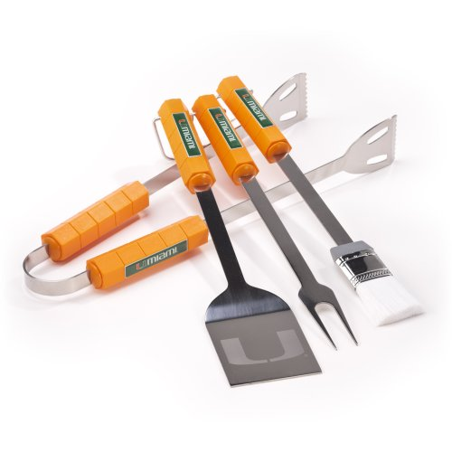 - NCAA Miami Hurricanes 4 Piece Barbecue Set