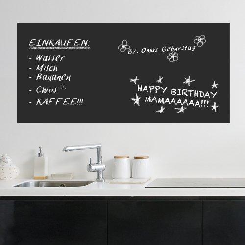 Wandkings Tafelfolie, 100 x 50 cm, selbstklebend, schwarz