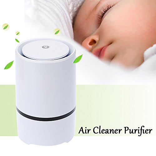 Air Purifier Ionizer True HEPA Filter, USB air purifier,Desktop Ionizer,Odor Allergies Allergen Eliminator Cleaner for Smoke, Dust, Smokers, Room, Home, Pets,Air cleaner Air Freshener