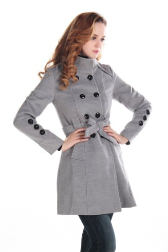 UPC 508804577129, CHAREX Women Wool Blends Coat Trench Coat Long Jacket Outwear Collar Overcoat