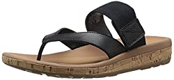 Rockport Women's Weekend Casuals Keona Gore Thong Red Pepper Smooth 5 W (C)