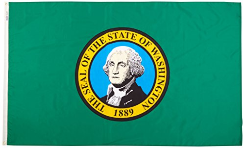 Annin Flagmakers Model 145780 Washington State Flag 5x8 ft.