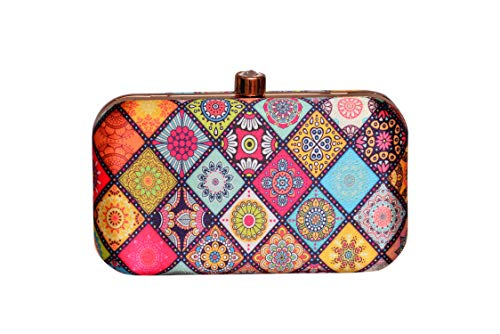 Sugarcrush™ Trendy Women Party Wear Hand Box clutch Purse With Detachable Sling Must Buy For Women and Girls