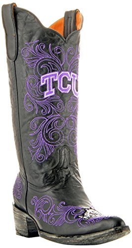 NCAA TCU Horned Frogs Women's 13-Inch Gameday Boots, Black, 7.5 B (M) ()