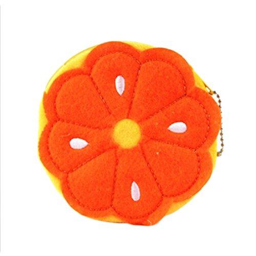 Wallet Eleusine Purse Bag Pouch Cute Coin Eleusine Cute Orange Plush Coin Plush Purse zZZSAq