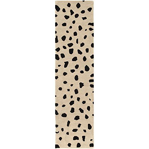 Artistic Weavers STLA-2443 Stella Dalmatian Rug, Black/White, 2' x 8' from Artistic Weavers