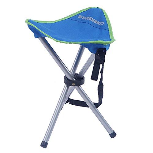 FUNDANGO Lightweight Portable Heavy Duty Folding Tripod Camping Stool, Great for Backpacking Hiking Fishing, Ultralight, Compact, Blue