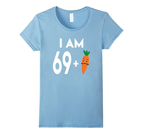 Womens 70 Years Old Birthday Benefaction for Vegans Veggie Lovers Shirt XL Baby Blue