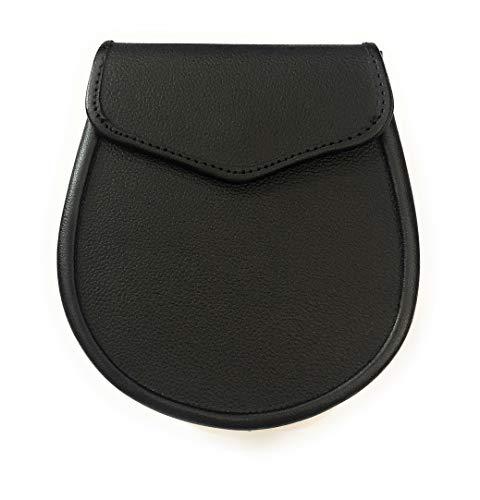 Plain Black Day wear Kilt Sporran w/Belt