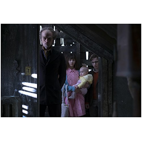 Neil Patrick Harris As A Child (A Series of Unfortunate Events Neil Patrick Harris as Count Olaf with Kids Peering into Dark Room 8 x 10 Inch)