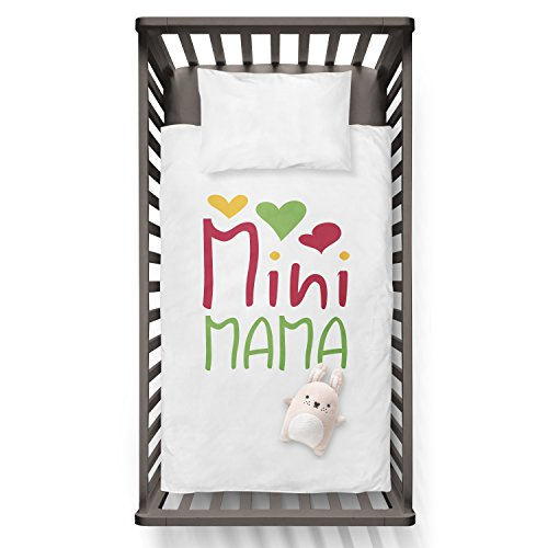 Mini MAMA Funny Humor Hip Baby Duvet /Pillow set,Toddler Duvet,Oeko-Tex,Personalized duvet and pillow,Oraganic,gift by Jobhome