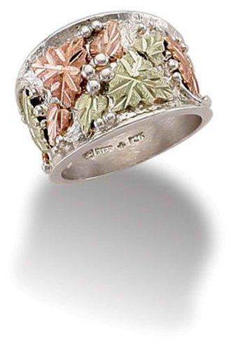 Black Hills Diamond Bands - Landstroms Black Hills Silver Mens or Ladies UNISEX Ring - MRLUR279