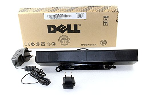 Flat Panel Stereo Speaker - Dell AX510PA E Series Flat Panel Stereo Sound Bar with Power Adapter