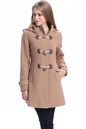 BGSD Women's Daisy Wool Blend Toggle Coat - Camel Plus 1X - Womens Toggle Coat