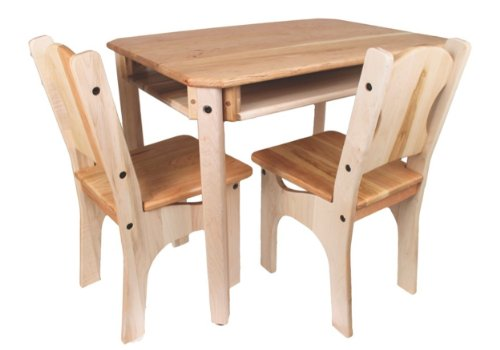 Camden Rose Child's Cherry & Maple Wood Table and 2 Chairs, USA Made by Camden Rose