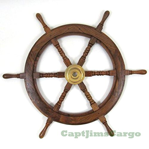 Ships Steering Wheel Nautical Wall Decor 30