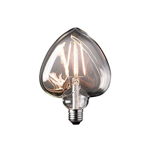 Bombilla Deco filamento corazón LED E27 4 W amarillo de destello 30 W: Amazon.es: Iluminación