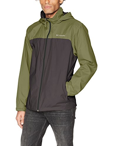 Columbia Men's Glennaker Lake Lined Rain Jacket, Shark, Mosstone, XL by Columbia