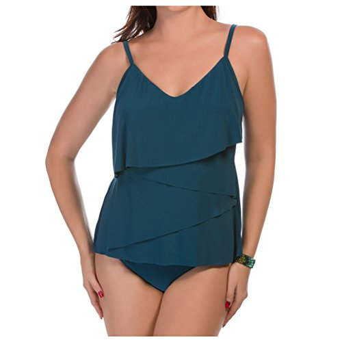 Magicsuit Women's Solid Chloe Soft Cup Tankini Top Mallard Swimsuit Top 8