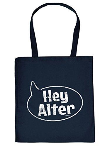 - - Hey ALter - - Tote Bag Henkeltasche Beutel mit Aufdruck. Tragetasche, Must-have, Stofftasche. Geschenkidee