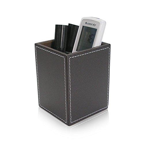 JWBT colección Papelería empresarial desk top box colección JWBT de diseños de cuero de gran capacidad penholder,color café A221 4b2778