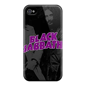 SherriFakhry Iphone 4/4s Shockproof Cell-phone Hard Covers Unique Design Fashion Black Sabbath Band Pictures [cOC17873gYZK]