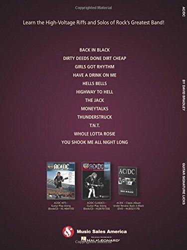 AC/DC - Guitar Signature Licks (Book/Online Audio): Amazon.es ...