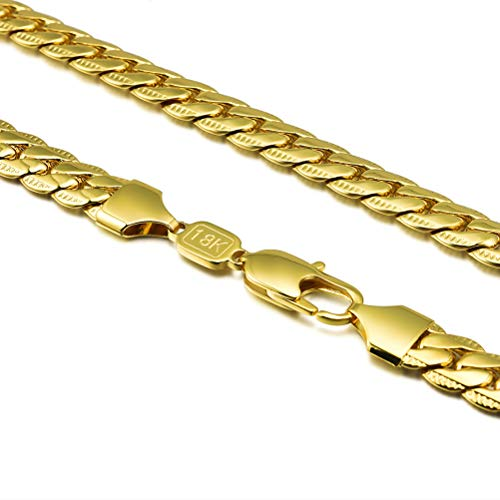 Choose Length 18K Gold Plated 3 Mm Scroll Chain Necklace LIFETIME WARRANTY