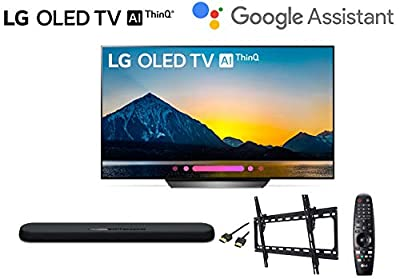 LG OLED65B8PUA 65 inch Class 4K Smart OLED TV w/Yamaha YAS108 soundbar w/Wall Mount Kit w/HDMI Cable - LG Authorized Dealer
