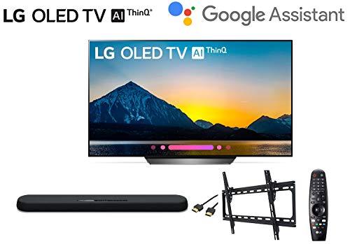 LG OLED65B8PUA 65 inch Class 4K Smart OLED TV w/Yamaha YAS108 soundbar w/Wall Mount Kit w/HDMI Cable – LG Authorized Dealer