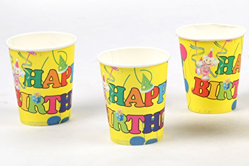 Funcart Colorful Balloons Theme 9oz Paper Cup  6 pcs/Pack