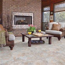 "Shaw Floors Sumter Tile 18"" Luxury Vinyl Tile Flooring Lunar"